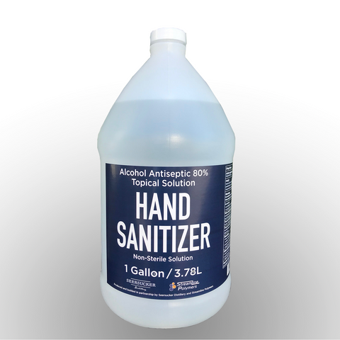 Liquid Hand Sanitizer: 1 Gallon Jugs 4pk Case