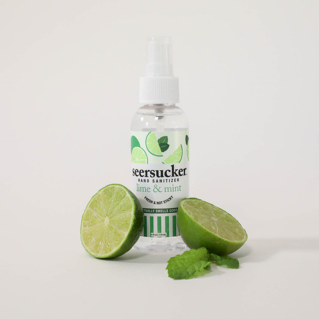 Lime & Mint Scented Seersucker Hand Sanitizer