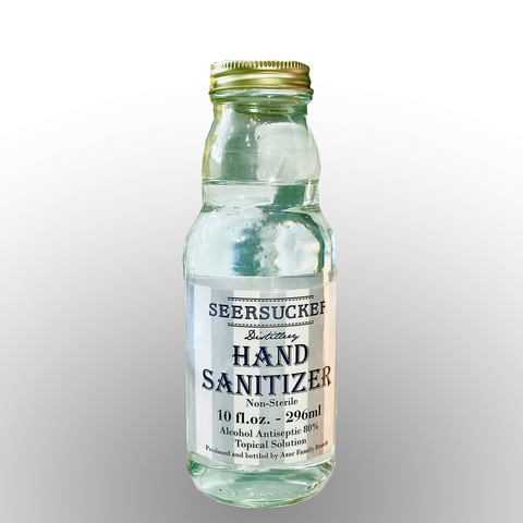 Liquid Hand Sanitizer: 10oz Glass Bottles 12pk Case