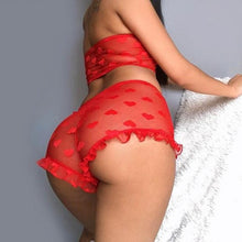 Load image into Gallery viewer, Women's  Lace Baby doll Underwear, Nightwear with G-string - connoisseurfashion.com