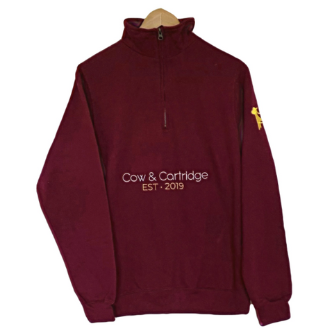 The Glemsford Quarter Zip (Burgundy)