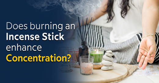Does burning an incense stick enhance concentration?
