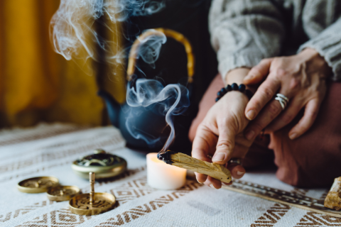 Smudging with Palo Santo