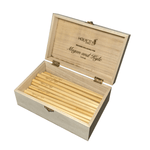Megan and Kyle Custom Branded Straw Holder Box Opened with Straws Inside Angled View