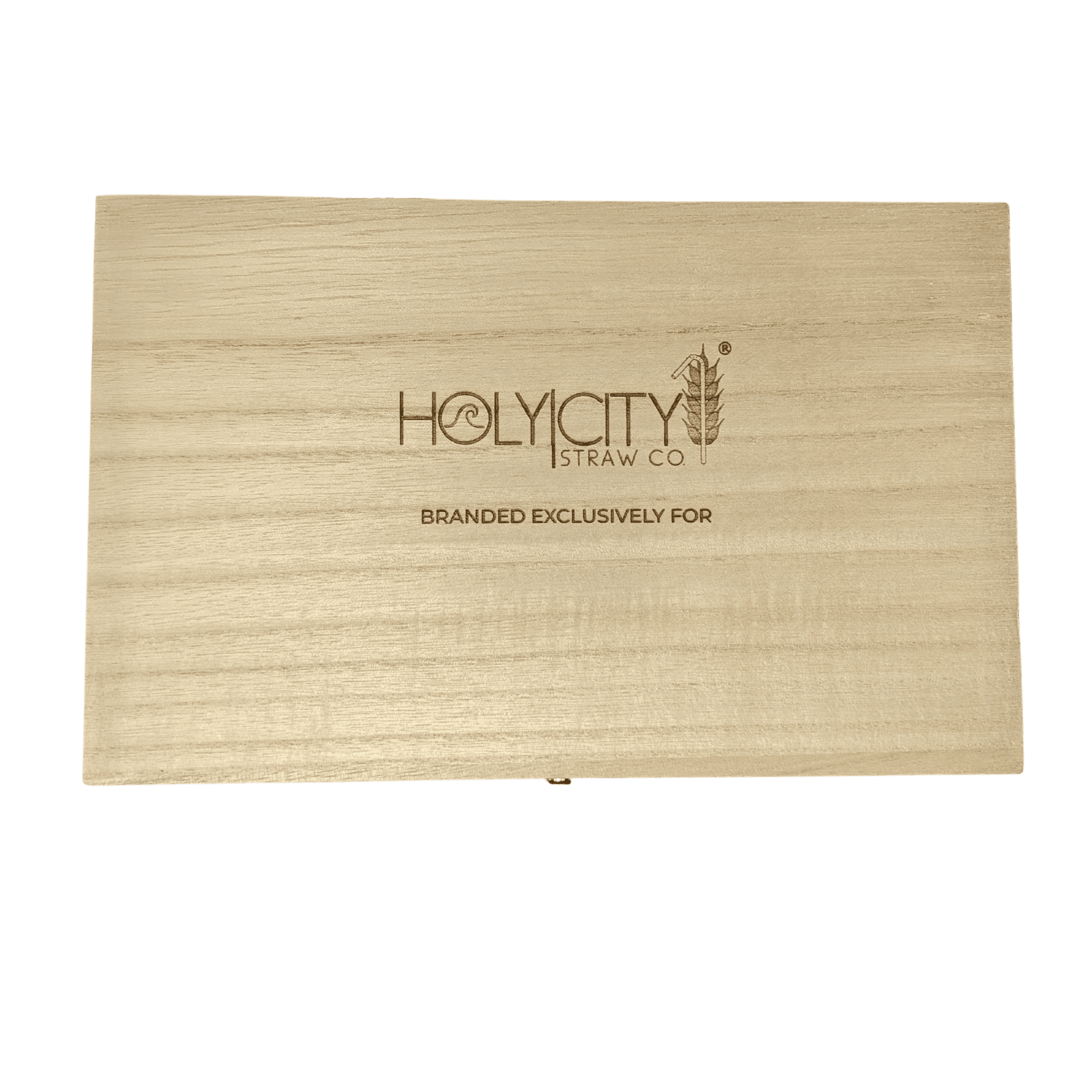 Custom Branded Straw Holder Box Unbranded Top