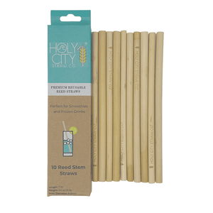 Reusable Reed Straws - 10 Pack