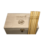The Paradise Bartender Custom Branded Straw Holder Box Closed with Laser Engraved Straws Top