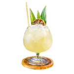 Margarita cocktail with Reed Straw in it