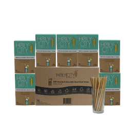 1500 count case containing 6 boxes of 250 ct boxes of Holy City tall reusable reed Straws