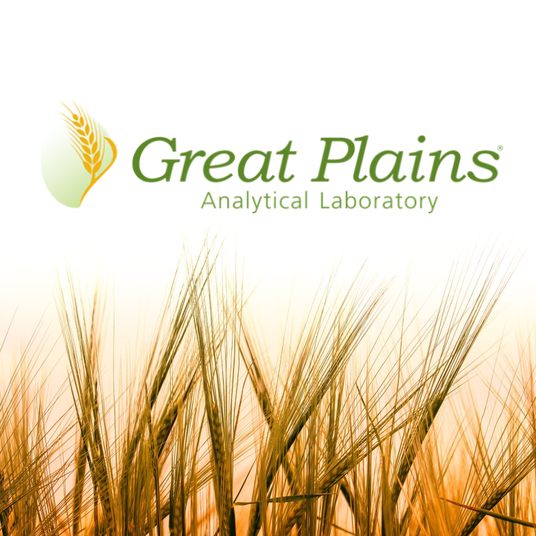 Great Plains Analytical Laboratory Logo with wheat field in the background