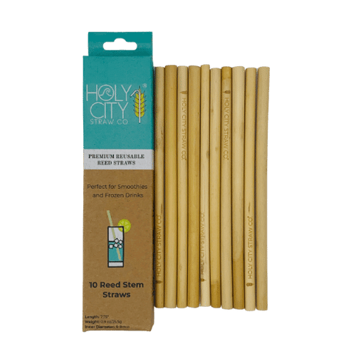 10 pack Reusable Reed branded with Holy CIty Straw Company