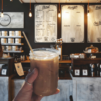 Iced Coffee in with Holy City Wheat Straw