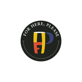 For Here, Please logo