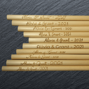 Wedding Branded straws with numerous fonts
