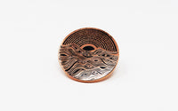 Hex Wave (copper) Pin