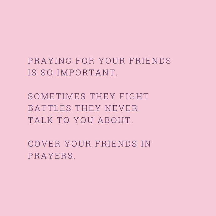 PRAYING FOR...