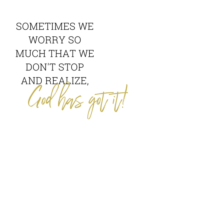 SOMETIMES WE WORRY...