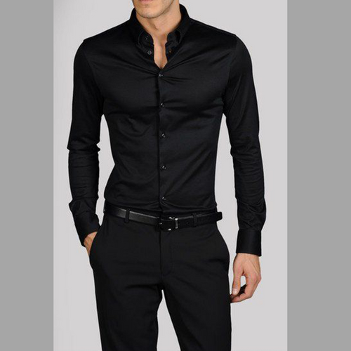 UPF 50+ Polyester - Black Long Sleeve Shirt