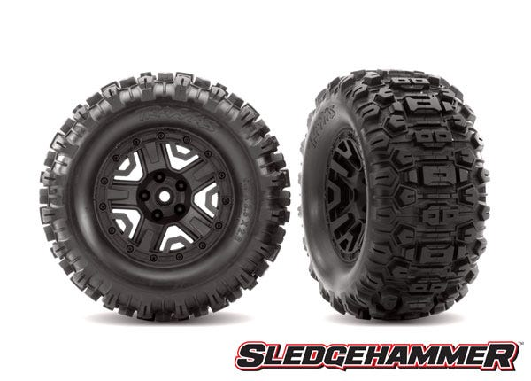 6792 T&W BLK 2.8/SLEDGEHAMMER WHEEL