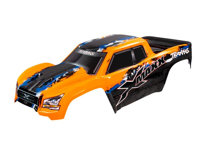 7811 BODY, X-MAXX®, ORANGE (PAINTED, DECALS APPLIED)