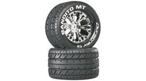 "Bandito MT 2.8"" 2WD Mounted Rear Tires, Chrome (2) (DTXC3503)"
