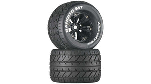 "Bandito MT 3.8"" Mounted 1/2"" Offset Tires, Black (2) (DTXC3576)"