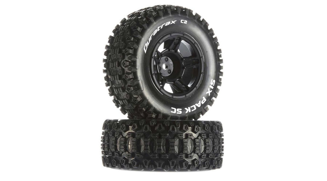 Six-Pack SC C2 Mounted Tires: Traxxas Slash Front (2) (DTXC3860)