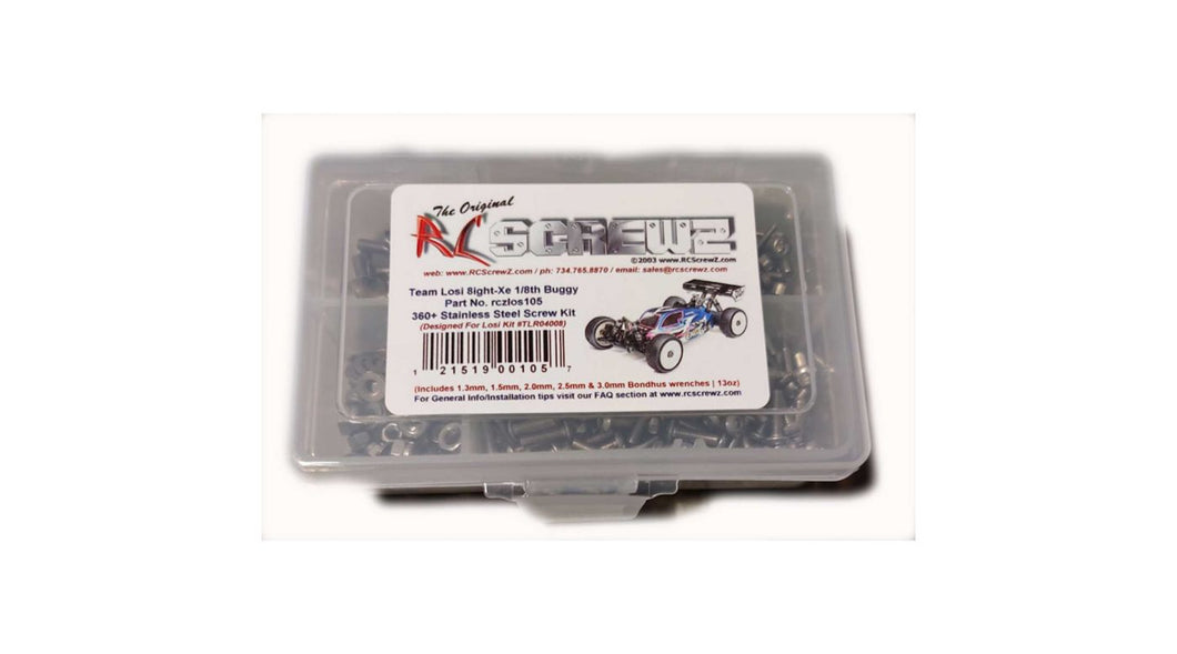 Stainless Steel Screw Kit: TLR 8IGHT-XE (RCZLOS105)