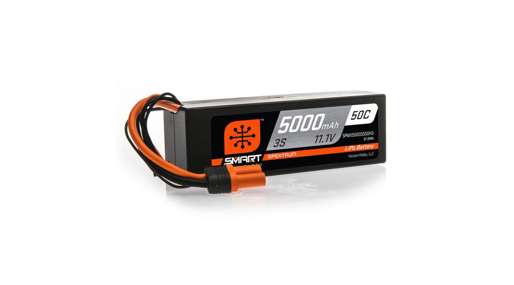 11.1V 5000mAh 3S 50C Smart Hardcase LiPo Battery: IC3 (SPMX50003S50H3)