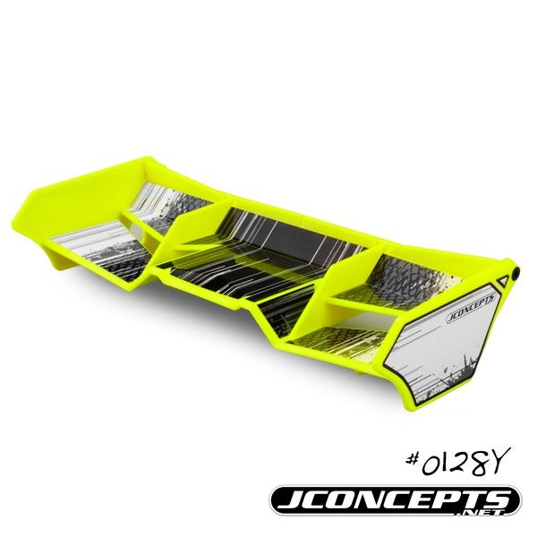 J Concepts 1/8 Buggy/Truck Wing, with Gurney Options (Yellow)