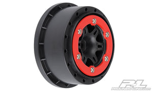 Sixer 2.2/3.0 Red / Black Bead-Loc Rear Wheels (2)