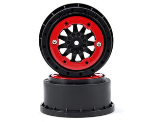 Pro-Line ProTrac F-11 Bead-Loc Short Course Wheels (Black/Red) (2)