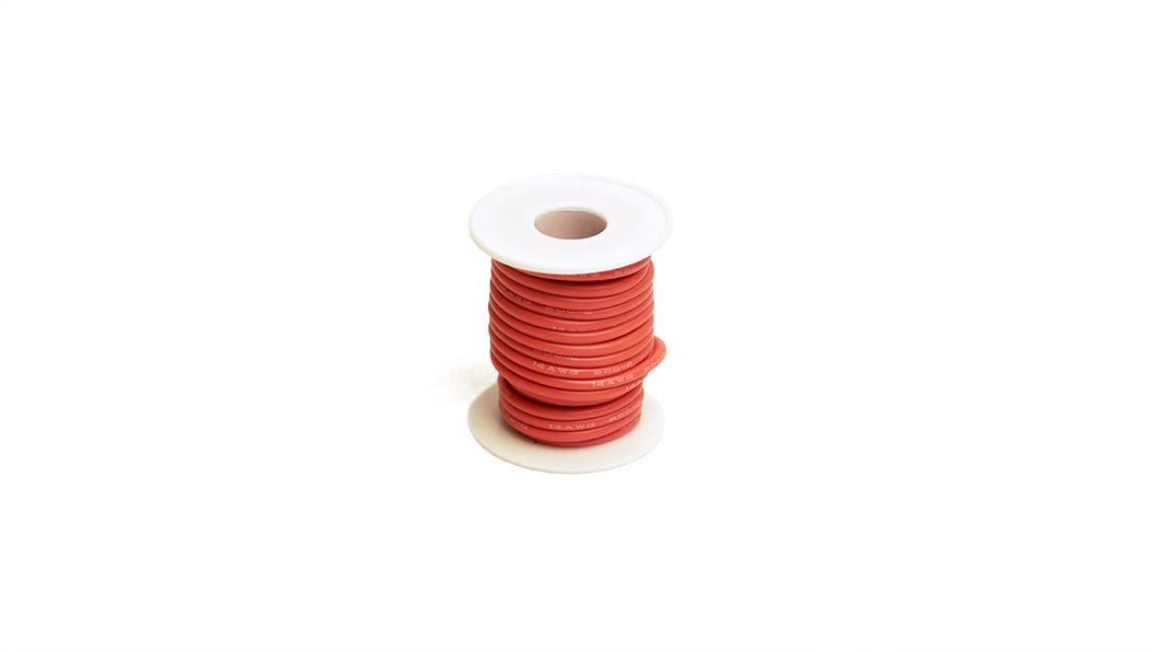 RCE1202 14 Gauge Silicone Ultra-Flex Wire; 25' Spool (Red)