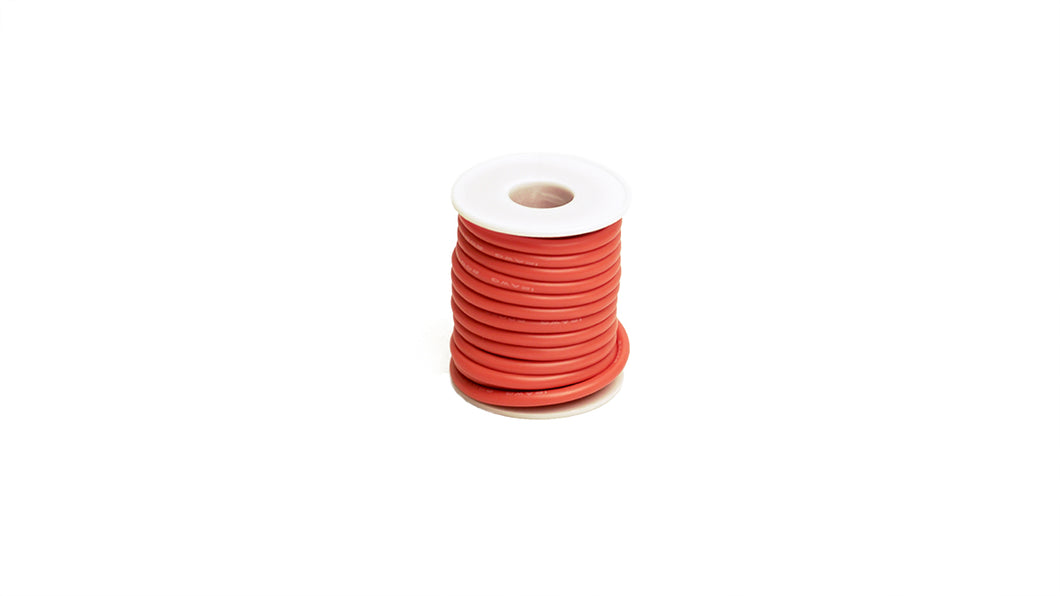 RCE1204 12 Gauge Silicone Ultra-Flex Wire; 25' Spool (Red)