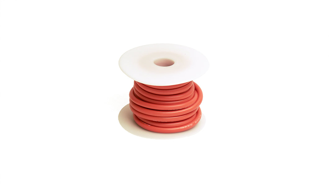 10 Gauge Silicone Ultra-Flex Wire; 25' (Red) (RCE1206)