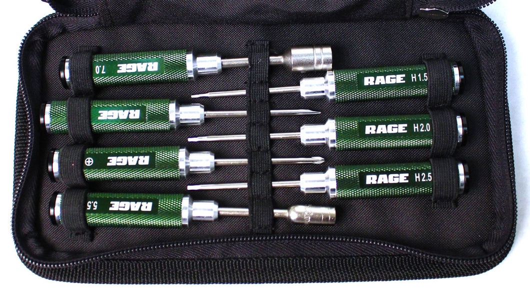 Compact 7 Piece Machined Tool Set with Case
