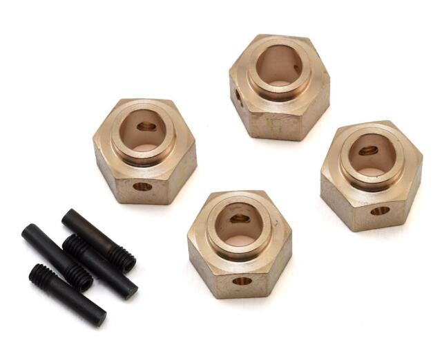 Yeah Racing Traxxas TRX-4 12mm Brass Hex Adapter w/8mm Offset (4)