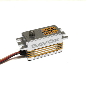 SAVSB2264MG  Low Profile High Voltage Brushless Servo 0.085sec / 208.3oz @ 7.4V