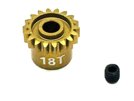 Ultra Lightweight Aluminum Pinion Gear, Thin, 48 Pitch, 18 Tooth (TRITEP4018)
