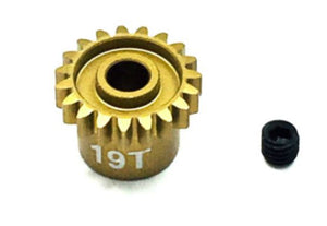 Ultra Lightweight Aluminum Pinion Gear, Thin, 48 Pitch, 19 Tooth (TRITEP4019)