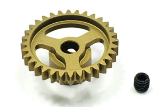 Ultra Lightweight Aluminum Pinion Gear, Thin, 48 Pitch, 32 Tooth (TRITEP4032)