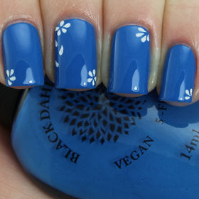 Blue Ice Blooms - Black Dahlia Lacquer