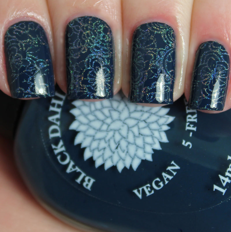 Moonlight Petals - Black Dahlia Lacquer