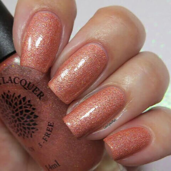 Peach Crocuses - Black Dahlia Lacquer