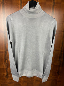 Fradi Grey Merino Turtle Neck Sweater