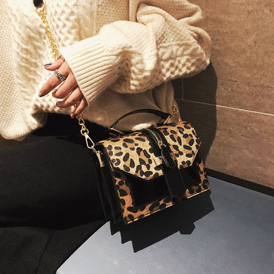 Leopard Leather Bag