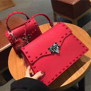Luxury Rivets Handbag
