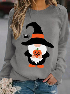 Women's Halloween Gnome print sweatshirt