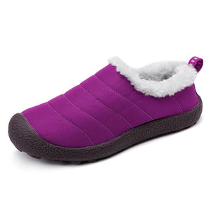 Women Warm Lining Waterproof Colth Flats Snow Boots