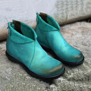 Women's Vintage  Comfy Low Heel Casual Boots